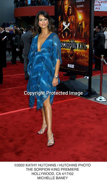 ©2002 KATHY HUTCHINS / HUTCHINS PHOTO.THE SORPION KING PREMIERE.HOLLYWOOD, CA 4/17/02.MICHELLE BANEY