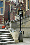 Steps leading to the Great Hall and library Lincoln's Inn Holborn London England