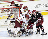 Kristina Brown (BC - 2), Alison Szlosek (BC - 8), Ashley Wheeler (Harvard - 12) - The Boston College Eagles defeated the Harvard University Crimson 3-1 to win the 2011 Beanpot championship on Tuesday, February 15, 2011, at Conte Forum in Chestnut Hill, Massachusetts.