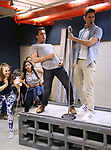 Josh Tolle and Jordan Bondurant with cast perform in the World Premiere musical presention of his show 'A World Apart' presented by the New York Musical Festival & New YorkRep on July 24, 2017 at the Acorn Theatre Studios at Theatre Row in New York City.