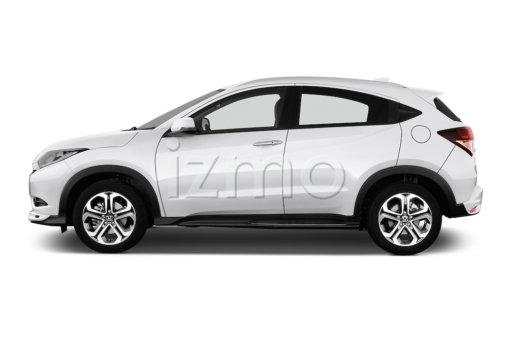 Car Driver side profile view of a 2016 Honda HRV Executive 5 Door Suv Side View