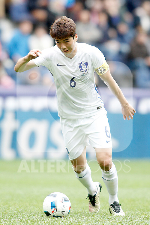 South Korea's Sungyueng Ki during friendly match. June 1,2016.(ALTERPHOTOS/Acero)