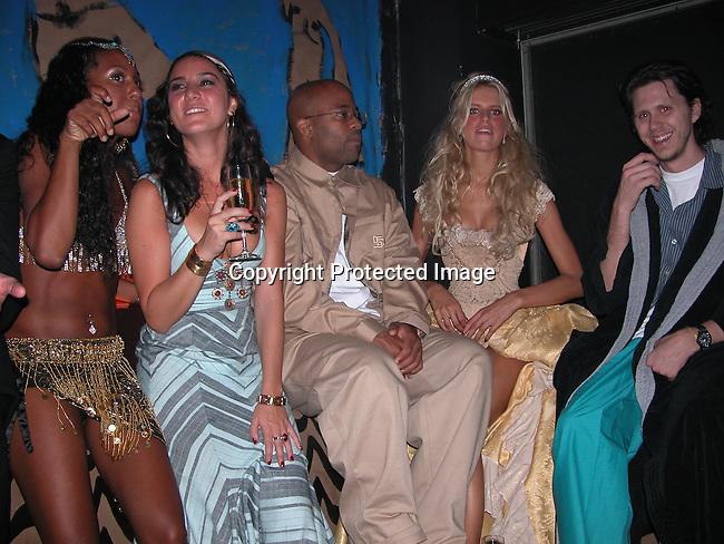 Damon Dash &amp; Karoline Kurkova <br />**EXCLUSIVE**<br />&ldquo;Mahalloween 2003&rdquo; - Hallowe&rsquo;en Party hosted by Karoline Kurkova <br />Lot 61<br />New York City, NY, USA<br />Friday, October, 31, 2003<br />Photo By Celebrityvibe.com/Photovibe.com