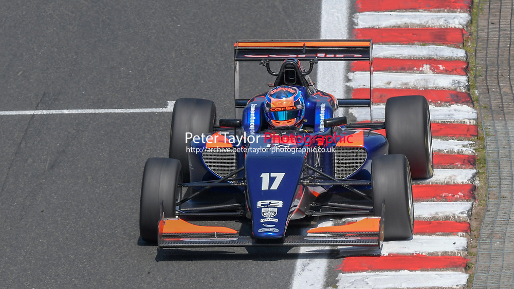 #17 Clement NOVALAK (GBR) Carlin during British F3 Championship as part of the British F3 / GT Championship at Oulton Park, Little Budworth, Cheshire, United Kingdom. April 19 2019.