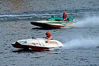"Tim Settle, F-77 ""Barracuda"", ( 1946 266 class Wickins hydroplane), Dan Joseph, F-888 ""Jade Dragon"", (1965 5 Litre class Lauterbach hydroplane)"