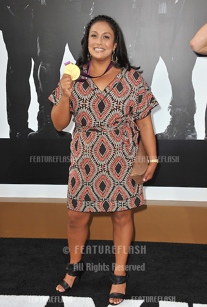 "Olympic gold-medalist Brenda Villa at the Los Angeles premiere of ""The Expendables 2"" at Grauman's Chinese Theatre, Hollywood..August 16, 2012  Los Angeles, CA.Picture: Paul Smith / Featureflash"