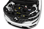 Car stock 2017 Renault Koleos Zen 5 Door SUV engine high angle detail view