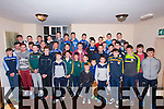 The Annascaul/Lispole under 13,14 and 16 football teams who were presented with their West Kerry Championship medals by Kerry MInor Players<br /> Brian Rayle, Matthew Flaherty  and Mark O'Connor at the Randy Leprechaun Pub, Annascaul on Saturday last.