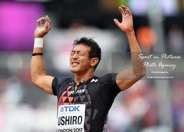 KeisukeUSHIRO (JPN) in the mens decathlon shot put. IAAF world athletics championships. London Olympic stadium. Queen Elizabeth Olympic park. Stratford. London. UK. 11/08/2017. ~ MANDATORY CREDIT Garry Bowden/SIPPA - NO UNAUTHORISED USE - +44 7837 394578
