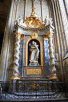 Baroque altar in the  Cathedral of Notre-Dame, Amiens, France