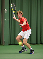 March 13, 2015, Netherlands, Rotterdam, TC Victoria, NOJK, Siem Fenne (NED)  Lars Schouten (NED)<br /> Photo: Tennisimages/Henk Koster