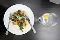 TRAVEL PIECE TO GO WITH GLENN PATTERSON COUNTY DOWN - : Glenn's lunch - butternut squash gnocchi with a glass of Gin.  Photo/Paul McErlane