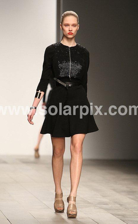 **ALL ROUND PICTURES FROM SOLARPIX.COM**                                             **WORLDWIDE SYNDICATION RIGHTS**                                                                                  Caption:                                                                               This pic: Amanda Wakeley's collection during London Fashion Week  at Somerset House in London, UK  22th February, 2011                                                                  This pic:  Models on the catwalk                                                                                                JOB REF: 12872      MLW       DATE: 22.02.20111                                                           **MUST CREDIT SOLARPIX.COM OR DOUBLE FEE WILL BE CHARGED**                                                                      **MUST AGREE FEE BEFORE ONLINE USAGE**                               **CALL US ON: +34 952 811 768 or LOW RATE FROM UK 0844 617 7637**
