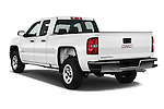 Car pictures of rear three quarter view of 2016 GMC Sierra 1500 2WD Double Cab Standard Box SLE 4 Door Pick-up Angular Rear