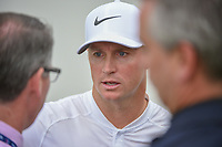 Alex Noren (SWE) is interviewed after losing his match to Kevin Kisner (USA) in a playoff during day 5 of the World Golf Championships, Dell Match Play, Austin Country Club, Austin, Texas. 3/25/2018.<br /> Picture: Golffile | Ken Murray<br /> <br /> <br /> All photo usage must carry mandatory copyright credit (© Golffile | Ken Murray)