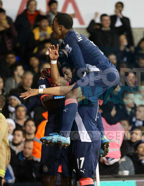 Newcastle's Ayoze Perez celebrates scoring his sides second goal<br /> <br /> Barclays Premier League- Tottenham Hotspur vs Newcastle United - White Hart Lane - England - 13th December 2015 - Picture David Klein/Sportimage