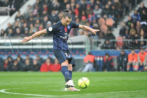 02.04.2016. Paris, France. French League 1 football. Paris St Germain versus Nice.  ZLATAN IBRAHIMOVIC (psg) scores for PSG