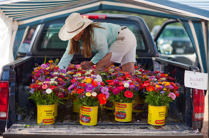 Farm flowers from the West Tisbury Farmers Market.