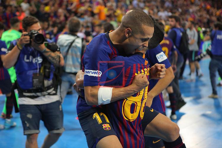 League LNFS 2018/2019.<br /> Play Off. Game: 5.<br /> FC Barcelona Lassa vs El Pozo Murcia: 3-2.<br /> Ferrao & Marccenio.