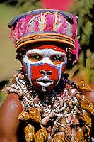 Papua New Guinea, Western Highlands Province, Mt. Hagen Cultural Show, boy