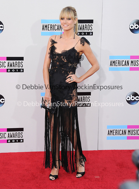 LOS ANGELES, CA - NOVEMBER 24: Heidi Klum arrives at   The 2013 American Music Awards held at Nokia Live in Los Angeles, California on November 24,2013                                                                               © 2013 Hollywood Press Agency