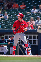 Springfield Cardinals Conner Capel (12) steps to the plate for an at-bat on May 19, 2019, at Arvest Ballpark in Springdale, Arkansas. (Jason Ivester/Four Seam Images)