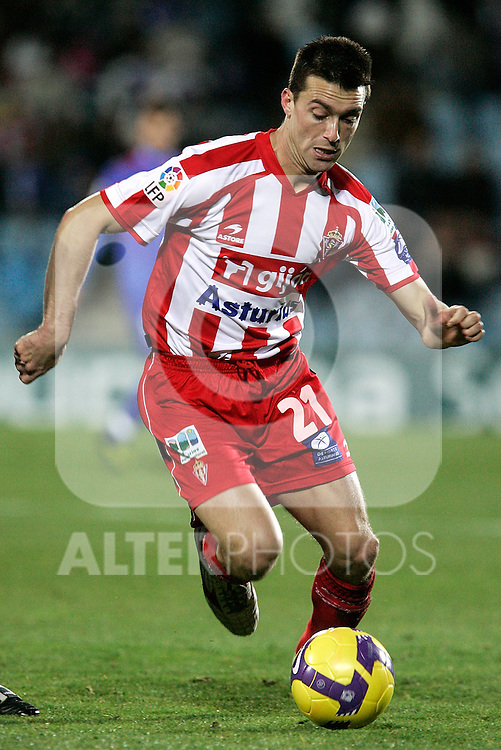 Sporting de Gijon's Kike Mateo during La Liga match, January 25, 2009. (ALTERPHOTOS).