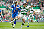 Celtic v St Johnstone....01.04.12   SPL.Thomas Rogne and Cillian Sheridan.Picture by Graeme Hart..Copyright Perthshire Picture Agency.Tel: 01738 623350  Mobile: 07990 594431