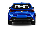 Straight rear view of a 2019 Lexus UX F-Sport  5 Door SUV stock images