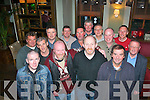 Ex Denny's,Tralee,staff butchers had an enjoyable reunion in Gally's bar/restaurant Castlemaine rd,Tralee last Friday night,present were,Mike Clifford,Mike O'Leary,Paudie Casey,Liam Griffin,Martin Hurley,Jim Doyle,Andrew Boyle,PJ McCrohan,Tom O'Donnell,Noel Lawlor,Sean Dineen,Denis O'Connor and Neilous Boyde.
