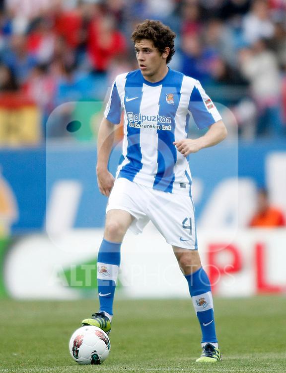 Real Sociedad's Gorka Elustondo during La Liga match.Mayo 2,2012. (ALTERPHOTOS/Alconada)