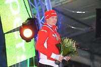 SCHAATSEN: AMSTERDAM: Olympisch Stadion, 01-03-2014, KPN NK Sprint/Allround, Coolste Baan van Nederland, podium Heren Allround 5000m, Renz Rotteveel, ©foto Martin de Jong