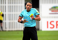 Referee Kader Zitouni during the 2018 OFC Champions League Quarterfinal between Team Wellington and Lae City Dwellers FC at David Farrington Park in Wellington, New Zealand on Saturday, 7 April 2018. Photo: Dave Lintott / lintottphoto.co.nz