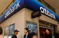 A brach of Citibank in Hong Kong..