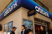 A brach of Citibank in Hong Kong..