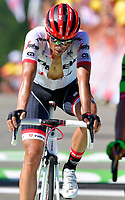 LA PLANCHE DES BELLES FILLES, FRANCE - JULY 5 :  CONTADOR Alberto (ESP) Rider of Trek - Segafredo during stage 5 of the 104th edition of the 2017 Tour de France cycling race, a stage of 160.5 kms between Vittel and La Planche Des Belles Filles on July 05, 2017 in La Planche Des Belles Filles, France, 05/07/2017<br /> Ciclismo Tour De France 2017 <br /> Foto Photonews / Panoramic / Insidefoto <br /> ITALY ONLY