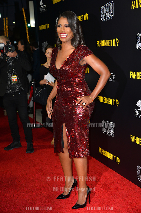"LOS ANGELES, CA. September 19, 2018: Omarosa Manigault Newman at the Los Angeles premiere for Michael Moore's ""Fahrenheit 11/9"" at the Samuel Goldwyn Theatre.<br /> Picture: Paul Smith/Featureflash"