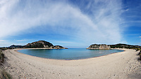 The amazing Voidokoilia beach in Messinia, Greece