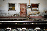 Train tracks in front of an old building in Creel, Mexico in Copper Canyon, Sunday, June 22, 2008. Creel is the largest city along the railway passage and offers many hotels and restaurants for thrifty and luxurious travelers alike...PHOTOS/ MATT NAGER