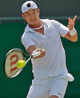England, London, 27.06.2014. Tennis, Wimbledon, AELTC, Jimmy Wang (TPE)<br /> Photo: Tennisimages/Henk Koster