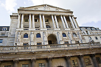 The Bank of England where the Monetary Committee sets the banking base rate, The City of London, England, UK