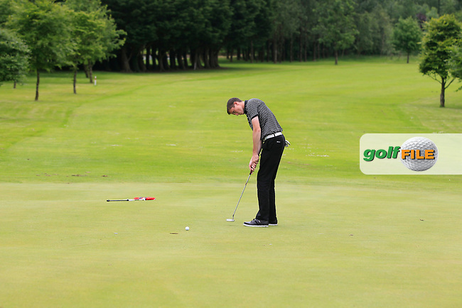 Jason Murphy (Warrenpoint) on the 6th green during Round 2 of the Irish Boys Amateur Open Championship at Tuam Golf Club on Wednesday 24th June 2015.<br /> Picture:  Thos Caffrey / www.golffile.ie