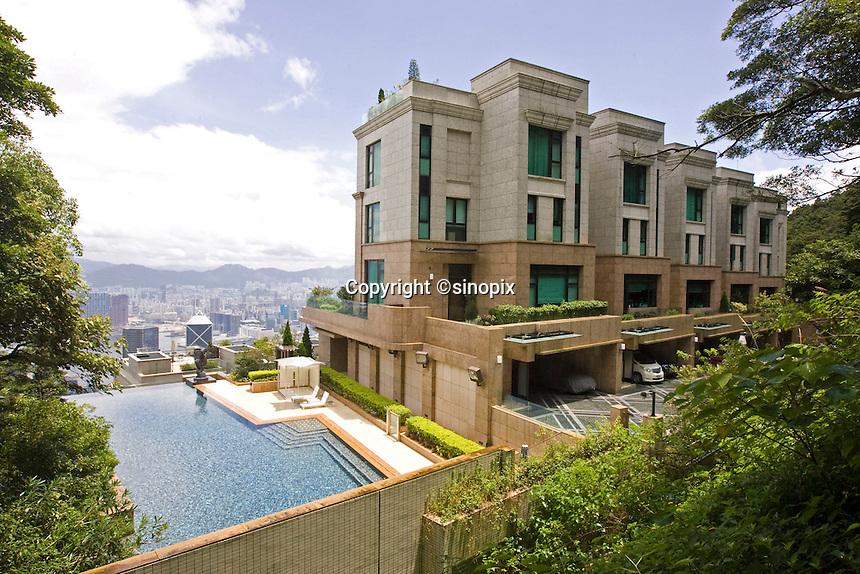 Luxury house on Severn Road at the Peak, Hong Kong.<br /> 30 Jul 2009