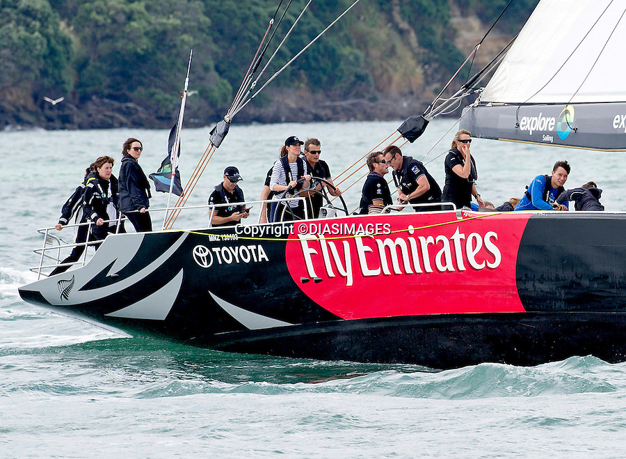 KATE AND PRINCE WILLIAM<br /> race each other in New Zealand's America's Cup Yachts, Auckland Harbour, Auckland_11/04/2014<br /> Mandatory Photo Credit: &copy;Dias/DiasImages<br /> <br /> **ALL FEES PAYABLE TO: &quot;NEWSPIX INTERNATIONAL&quot;**<br /> <br /> PHOTO CREDIT MANDATORY!!: NEWSPIX INTERNATIONAL(Failure to credit will incur a surcharge of 100% of reproduction fees)<br /> <br /> IMMEDIATE CONFIRMATION OF USAGE REQUIRED:<br /> Newspix International, 31 Chinnery Hill, Bishop's Stortford, ENGLAND CM23 3PS<br /> Tel:+441279 324672  ; Fax: +441279656877<br /> Mobile:  0777568 1153<br /> e-mail: info@newspixinternational.co.uk