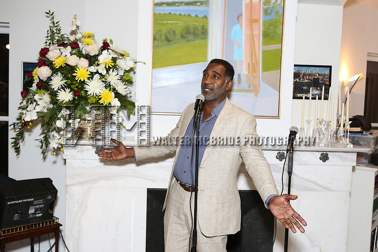 Norm Lewis performs at 'Parlor Night' A benefit evening for The Broadway Inspirational Voices Outreach Program at the home of Roy and Jenny Neiderhoffer on June 22, 2015 in New York City.