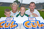 1183-1188.Launching the VHI GAA Cul Summer Camps in Fitzgerald Stadium, Killarney, last Thursday were, l-r: Mark OShea, Bernie Reen, Tara OShea and Donal Daly..