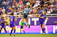 Orlando, FL - Saturday September 10, 2016: Tasha Kai during a regular season National Women's Soccer League (NWSL) match between the Orlando Pride and Sky Blue FC at Camping World Stadium.