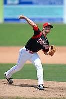 Batavia Muckdogs pitcher Reid Redman (23) during a game against the Jamestown Jammers on July 24, 2013 at Dwyer Stadium in Batavia, New York.  Jamestown defeated Batavia 9-7.  (Mike Janes/Four Seam Images)