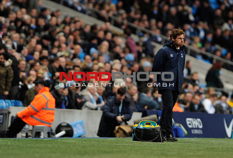Tottenham Hotspur Manager, Andre Villas Boas blows his cheeks as Tottenham lose 6 - 0   SPORT - Football - Manchester - Etihad Stadium - Manchester City v Tottenham Hotspur - Barclays Premier League<br /> Foto nph / Meredith<br /> <br /> ***** OUT OF UK *****