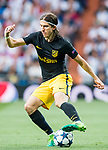 Filipe Luis of Atletico de Madrid in action during their 2016-17 UEFA Champions League Semifinals 1st leg match between Real Madrid and Atletico de Madrid at the Estadio Santiago Bernabeu on 02 May 2017 in Madrid, Spain. Photo by Diego Gonzalez Souto / Power Sport Images